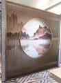 不鏽鋼玻璃屏風 4