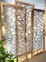 不锈钢艺术装饰屏风