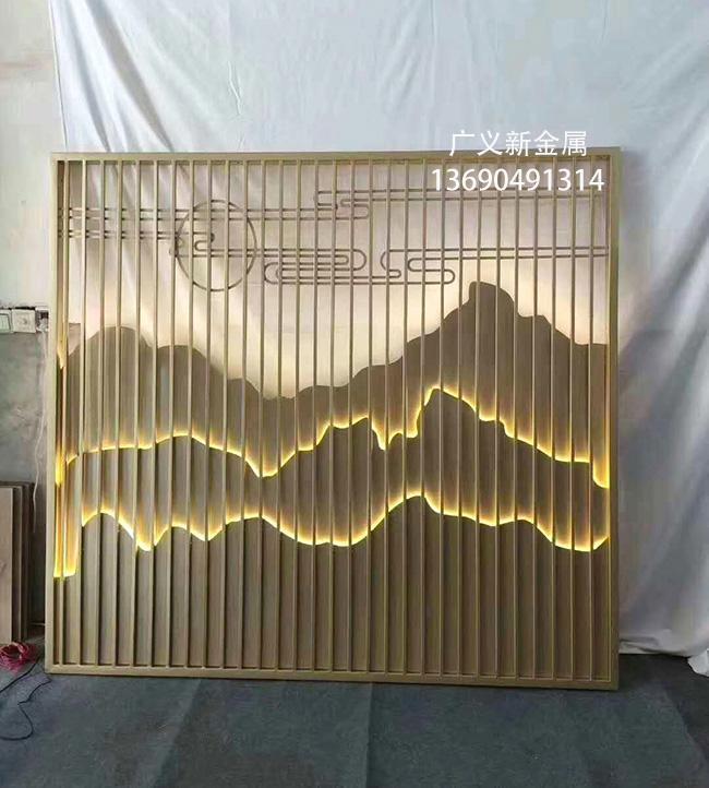 不鏽鋼藝朮裝飾屏風 5