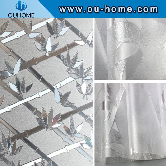 BT6201 PVC bamboo sparkling glass window film 2