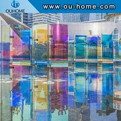 BT206 Holographic PVC vinyl film yellow iris film