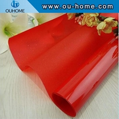 BT905 Red Colored Window Tint Glass Film PVC Decorative window Glass Film