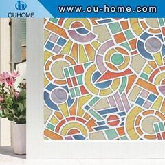H808 PVC Waterproof Window Films Cover No-Glue 3D Static Decorative Privacy Wind
