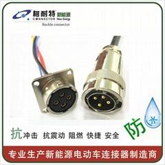 新能源汽车高压线束连接器 低压通讯线束防水插头