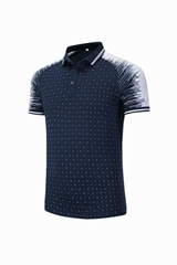Custom high quality cotton golf sport polo shirt men apparel with embroidery log
