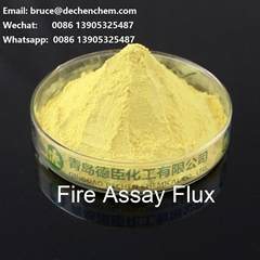 Fire assay flux