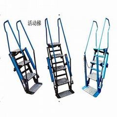 鶴管配套活動梯    踏步梯    鍍鋅活動梯