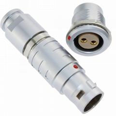 長方捷連接器 2芯塑料金屬推拉自鎖插頭插座測試線束電源信號線