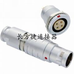 長方捷連接器 4芯塑料金屬推拉自鎖插頭插座測試線束電源信號線