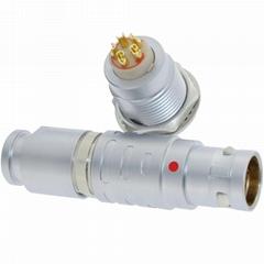 长方捷连接器 5芯塑料金属推拉自锁插头插座测试线束电源信号线