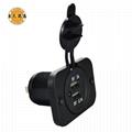 Dual USB Car Charger Socket Power Outlet Port for Car Boat Marine Rv Mobile 1