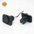 Dual USB Car Charger Socket Power Outlet Port for Car Boat Marine Rv Mobile 2