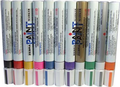 批發日本正品ZEBRA斑馬油漆筆記號筆補漆筆 1