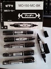 批发日本正品ZEBRA斑马油性笔大双头笔记号笔