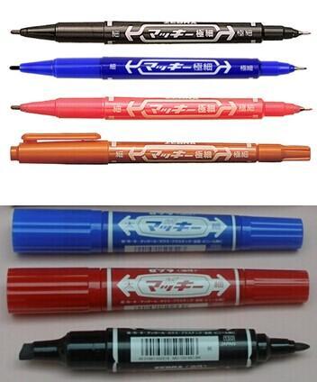 批发日本正品ZEBRA斑马油性笔大双头笔记号笔 2