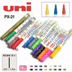 批发日本正品u三菱油漆笔记号笔PX-21