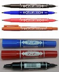 批发日本正品ZEBRA斑马油性笔记号笔大双头MO-150