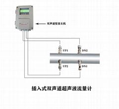 大连海峰TDS-100插入式双声道超声波流量计