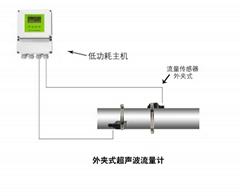 大连海峰电池供电外夹式超声波流量计