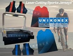 Laser cutting sports jerseys