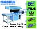 Vinyl laser marking, laser cutting vinyl by Unikonex