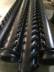 杭州蕭紅塑膠PE材質集分水器PE地源熱泵管件