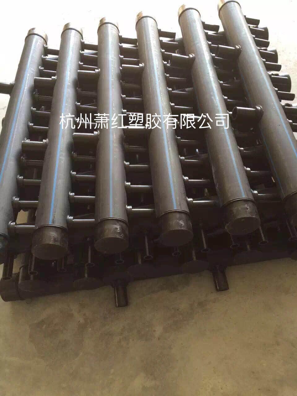 杭州蕭紅塑膠PE材質集分水器PE地源熱泵管件 3