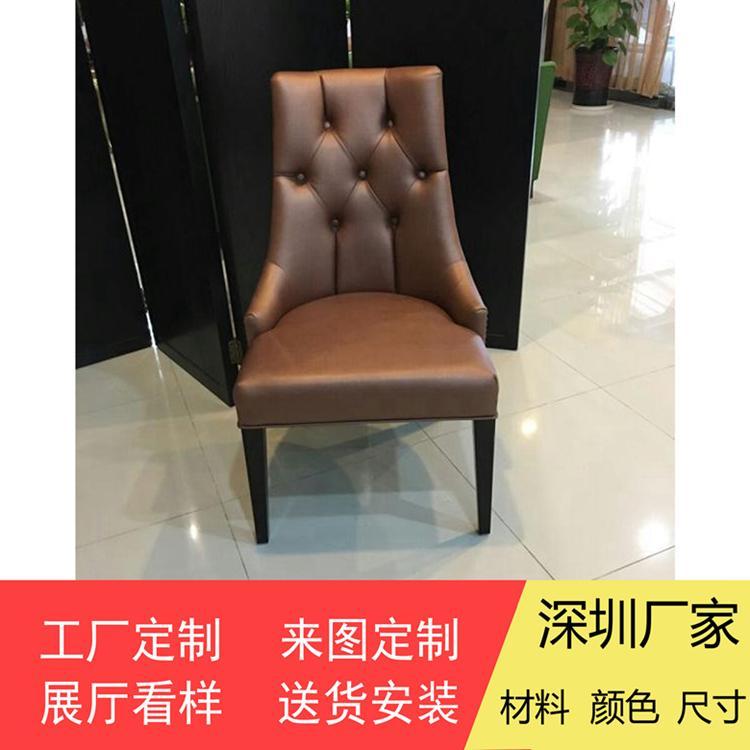 各式餐廳實木椅架防火皮革餐椅廠家訂製 5