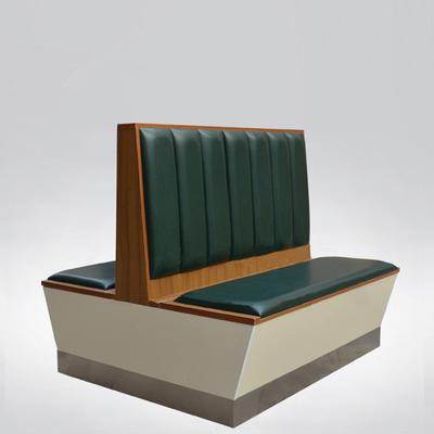 香港茶餐廳簡約現代防火皮革軟包卡座沙發定做 1