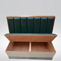 香港茶餐廳簡約現代防火皮革軟包卡座沙發定做 3