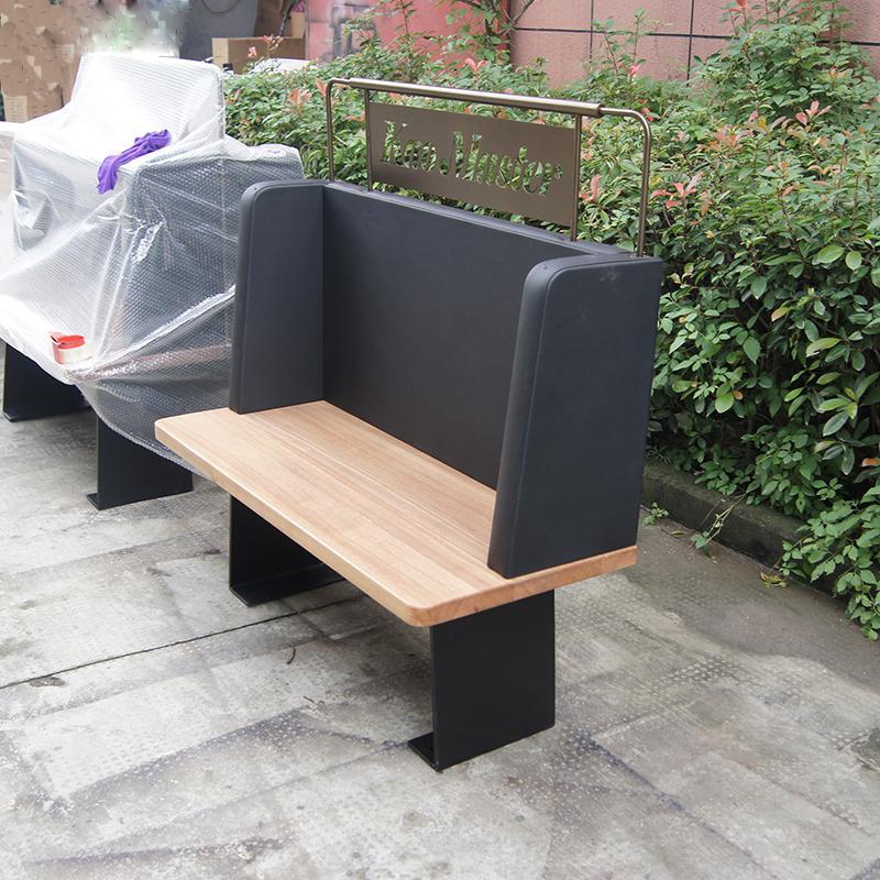 香港茶餐廳簡約現代防火皮革軟包卡座沙發定做 4