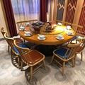 香港餐廳實木圓桌中西餐廳桌子訂製 2