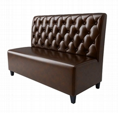 Hong Kong Restaurant Club's Fire-proof and Flame-retardant Leather Card Sofa