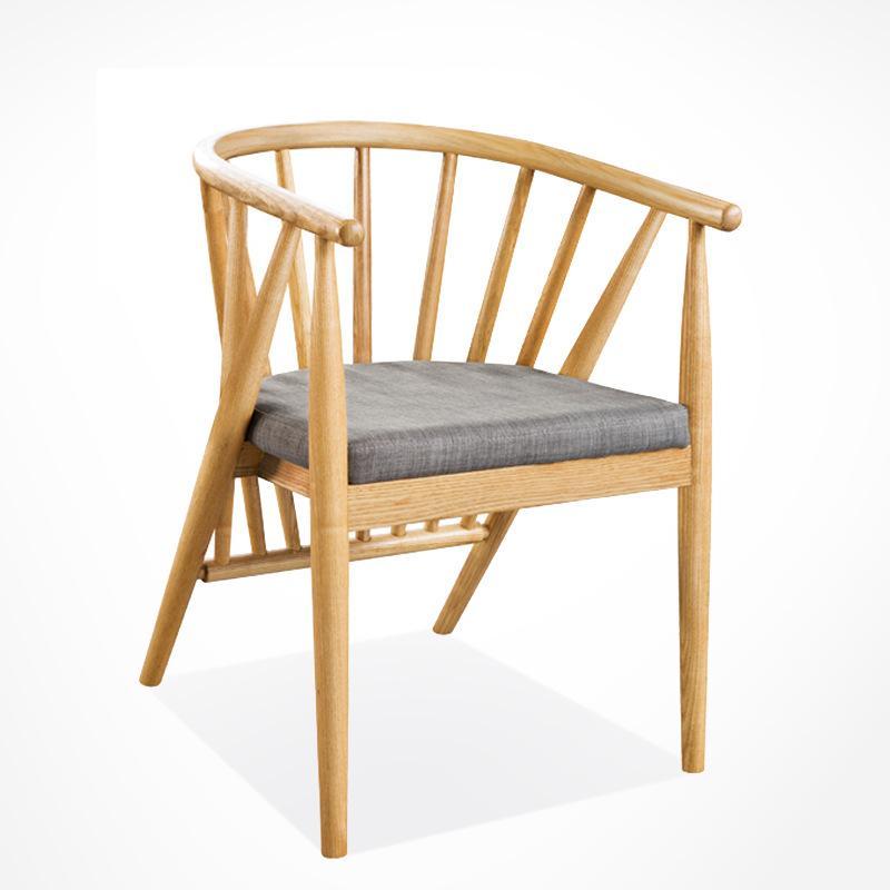 高檔餐廳酒店韓式實木餐椅訂做廠家直銷 3