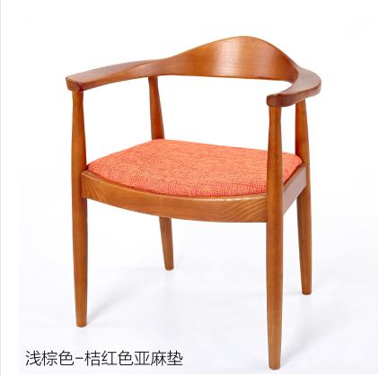 高檔餐廳酒店韓式實木餐椅訂做廠家直銷 5