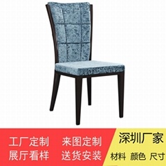 Korean-style solid wooden dining chairs in upscale restaurants and hotels