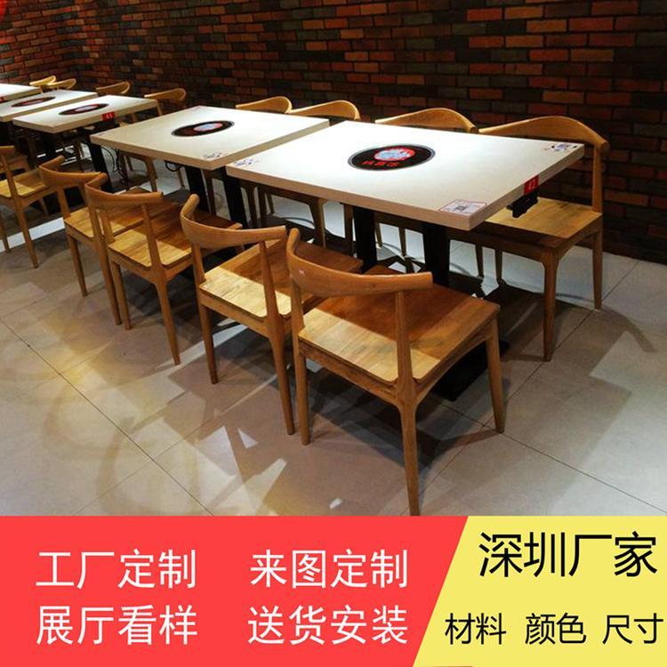 香港火鍋店餐桌供應商大理石一人一鍋火鍋桌訂做 1