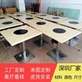 香港火鍋店餐桌供應商大理石一人一鍋火鍋桌訂做 5
