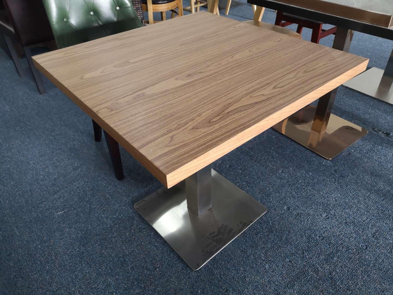 帶抽屜膠板餐桌儲物功能餐臺定做餐桌椅 2