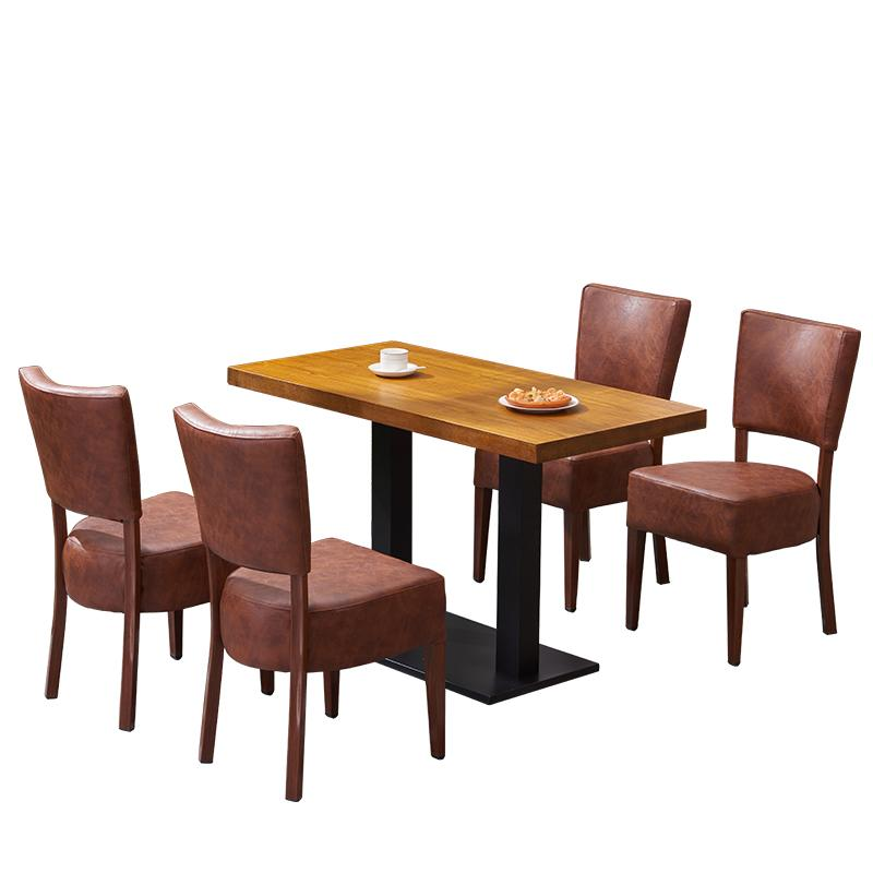 訂造咖啡廳實木餐桌戶外休閒餐桌餐臺 5