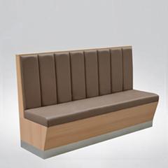 餐厅双面沙发卡座椅子凳子