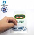 pvc clear lottery slip