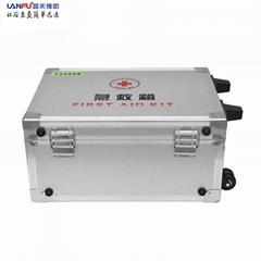 鋁合金帶拉杆企業安全藥箱套裝 藍夫LF-12024急救箱