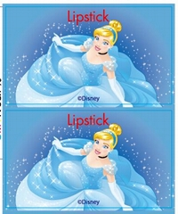 princess label Lipstick Customize label Cosmetic products label