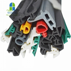 Customized extruded aluminum door and window rubber seal strip