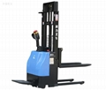 Full electric stacker with standing on