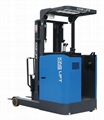 Electric reach truck standing-on model