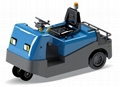 Electric tow tractor seated type model