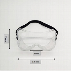 OEM anti saliva fog and anti-aureole safety Goggle for personal protection manuf