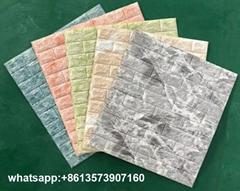 Plastic PE 3d foam brick wall paper Embossed Brick Stone wall sticker